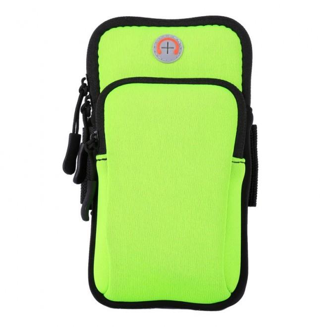 Сумка для бега Double arm package, сумка - чехол на руку Салатовый