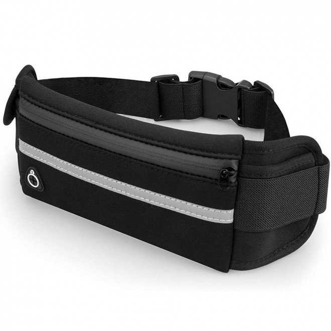 Поясная сумка для телефона водоотталкивающая спортивная Belt-Case черная