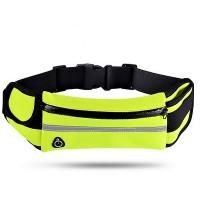 Поясная сумка для телефона водоотталкивающая спортивная Belt-Case  салатовая