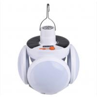 Фонарь подвесной, лампа походная для кемпинга на аккумуляторе с солнечной батареей BL 2029 USB