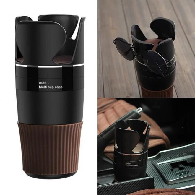 Автомобильный держатель-подставка 5в1 Auto-Multi Cup Case для стаканов и мелочей