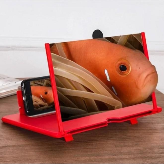 ЗD увеличительное стекло для экрана Подставка для телефона Держатель для мобильного Enlarged Screen Пластик
