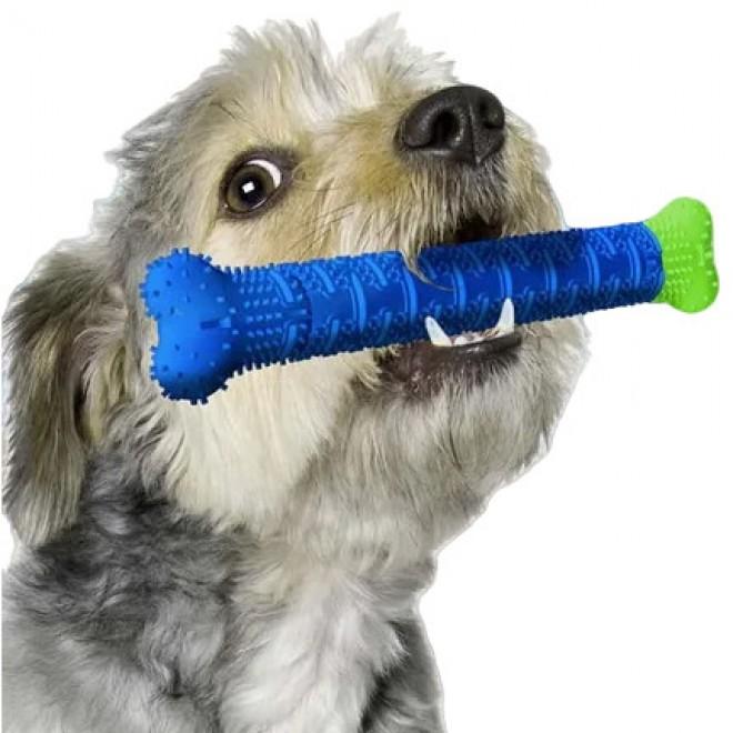 Зубная щетка для собак, самоочищающаяся резиновая собачья кость для зубов, для чистки десен Chewbrush