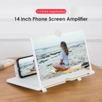 ЗD увеличительное стекло для экрана Подставка для телефона Держатель для мобильного Enlarged Screen Пластик Белое