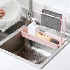 Органайзер для кухонной раковины Sink Holder розовый