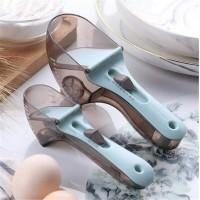 Регулируемые пластиковые мерные ложки 2 штук Adjustable measuring spoon