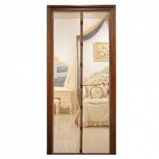 Антимоскитная сетка на дверь на магнитах Magic Mesh коричневая