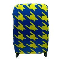 Чехол для чемодана Coverbag неопрен S молния желтая