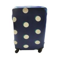 Чехол для чемодана Coverbag неопрен L пузыри синие
