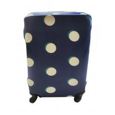 Чехол для чемодана Coverbag неопрен S пузыри синие