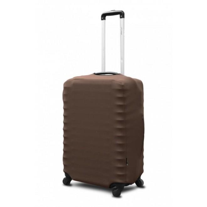 Чехол для чемодана Coverbag неопрен S кофе с молоком