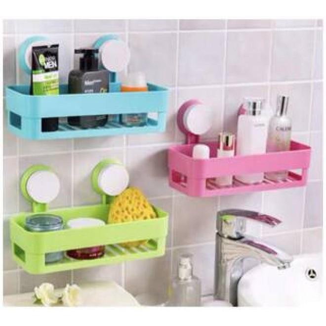 Полка на присосках для ванной прямоугольная Bathroom Shelves