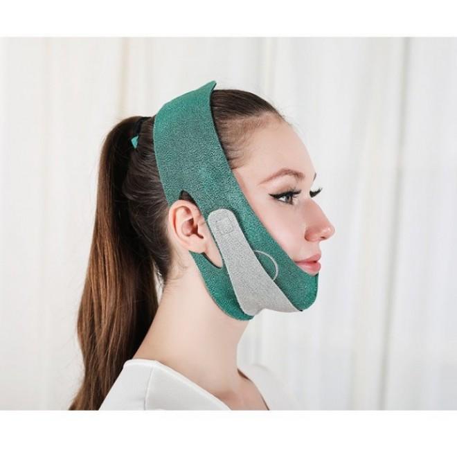 Маска-бандаж для коррекции овала лица и второго подбородка, ремень для подтяжки лица