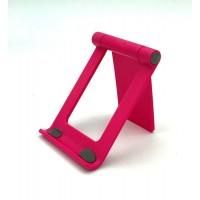 Настольная  подставка держатель  для телефона, планшета  Folding Bracket  розовая