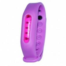 Силиконовый браслет ремешок от комаров и насекомых с капсулой Ball фиолетовый