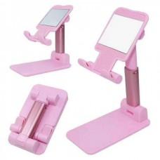 Складная  подставка держатель  для телефона, планшета  Mobile Pink