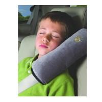 Подушка адаптер ремня безопасности Sunshine в авто серая