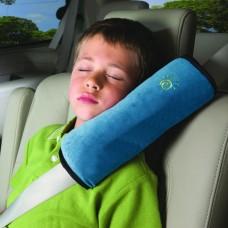 Подушка адаптер ремня безопасности Sunshine в авто голубая