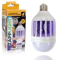 Светодиодная противомоскитная лампа 2 в 1 Zapp Light / лампочка уничтожитель насекомых