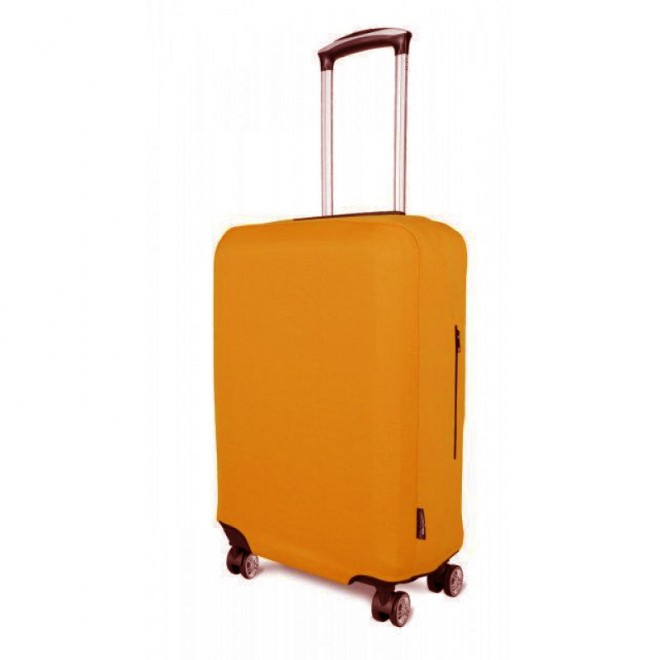 Чехол для чемодана Coverbag неопрен M горчица
