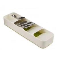 Органайзер Лоток для столовых приборов Compact Cutlery Organiser белый