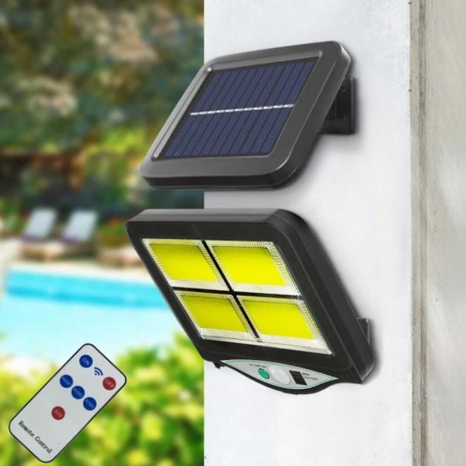 Уличный светильник фонарь Solar light с пультом на солнечной батарее и датчиком движения