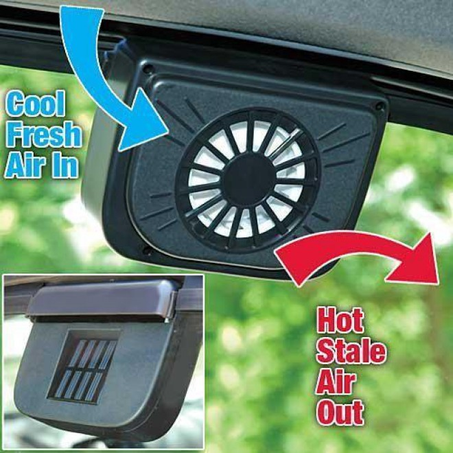 Автомобильный охлаждающий вентилятор Auto Cool-Fan на солнечной батарее