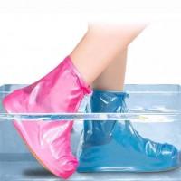 Многоразовые водонепроницаемые чехлы бахилы для обувис молнией и шнурком-утяжкой  XXL 44-46 р.