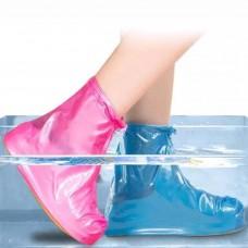 Многоразовые водонепроницаемые чехлы бахилы для обувис молнией и шнурком-утяжкой S 35-36 р.