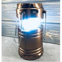 Кемпинговый светодиодный фонарь 8 LED USB  на солнечных батареях  G85 золотой