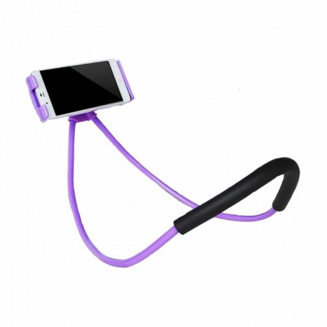 Гибкий держатель для телефона на шею Holder фиолетовый