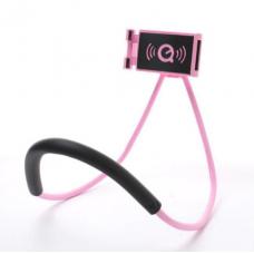 Гибкий держатель для телефона на шею Holder розовый