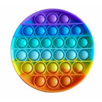 Антистресс Pop It  Круг, Пупырышки Поп Ит разноцветные