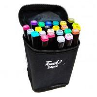 Набор двусторонних  скетч маркеров  Touch  для рисования 24 шт.