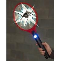 Электрическая  мухобойка ракетка от насекомых с аккумулятором и фонариком