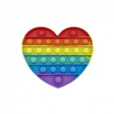 Антистресс Pop It  Сердце, Пупырышки Поп Ит разноцветные