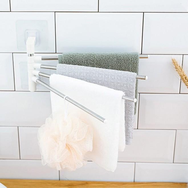Настенный полотенцесушитель для ванной 4-Bar Towel Rack. Вешалка для полотенец 4 держателя.