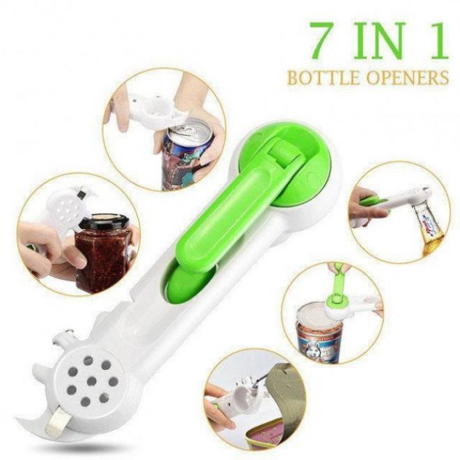 Универсальная открывалка консервный нож 7 в 1 Kitchen CanDo, для открывания любых крышек, пробок