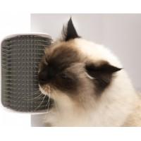 Игрушка-массажер для кошек с креплением к стене Cat It, чесалка, щетка серая