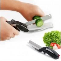 Умный кухонный нож и кухонные ножницы 2в1 Clever Cutter