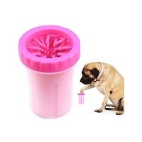 Лапомойка Lapomover Soft Gentle bol  маленькая с силиконовыми ворсинками для очистки лап от грязи розовая