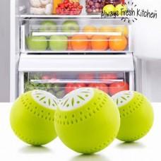 Шарики, поглотитель  в холодильник 3 шт для удаления запаха Fridge Balls