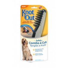 Электрическая гиппоаллергенная расческа для вычесывания шерсти Knot Out, расческа для животных