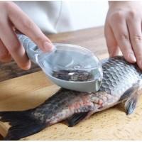 Скребок для чистки рыбы, рыбочистка ручная с контейнером Fishman