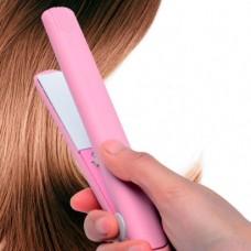 Мини утюжок для выпрямления волос Gemei GM2990 в сумочку, Дорожный выпрямитель, щипцы