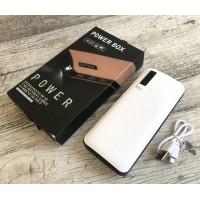 Power Bank Smart Tech 5000 mAh c фонариком кожа коричневый