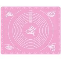 Силиконовый коврик Silicon mate testa для раскатки и выпечки теста 40 х 50 см розовый