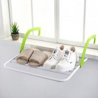 Съемная  подвесная сушилка  для одежды Fold Clothes Shelf зеленая