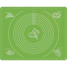 Силиконовый коврик Silicon mate testa для раскатки и выпечки теста 40 х 50 см зеленый