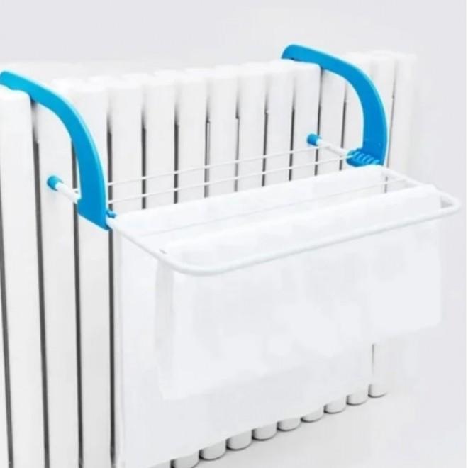 Съемная подвесная сушилка для одежды Fold Clothes Shelf голубая